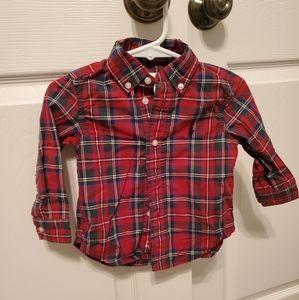Toddler Boys Polo Button Down Shirt